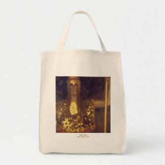 Pallas Athene by Gustav Klimt Grocery Tote Bag