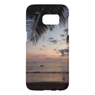 Palm and Beach Galaxy S7 Phone Case