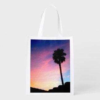 Palm at Sunset Reusable Grocery Bag