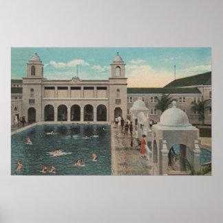 Palm Beach FL - Outdoor View of Pool Casino Print