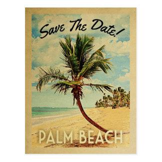 Palm Beach Florida Save The Date Vintage Postcard