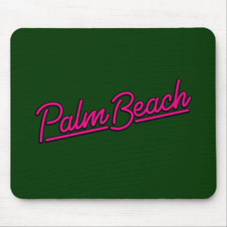 Palm Beach in magenta Mouse Pad
