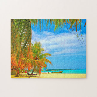 Palm Beach Montego Bay Jamaica. Jigsaw Puzzle
