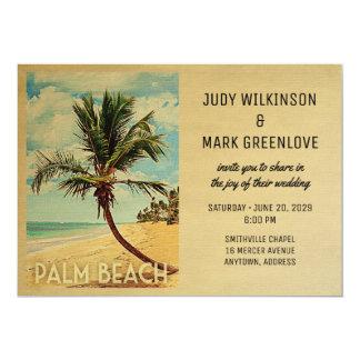 Palm Beach Wedding Invitation Beach Palm Tree