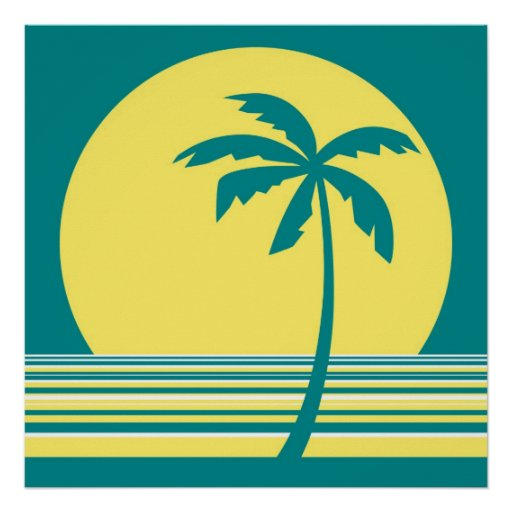 palm collection print