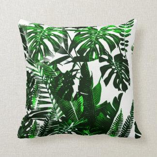 """Palm Cotton Throw Pillow, Throw Pillow 16"""" x 16"""""""
