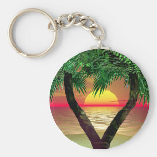 Palm Frame Basic Round Button Key Ring