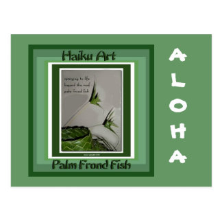 Palm Frond Fish Collectible Haiku Art Postcard