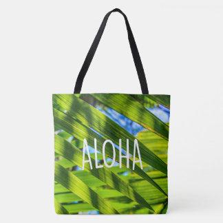 Palm Fronds, Kauai, Aloha Hawaiian Beach Bag
