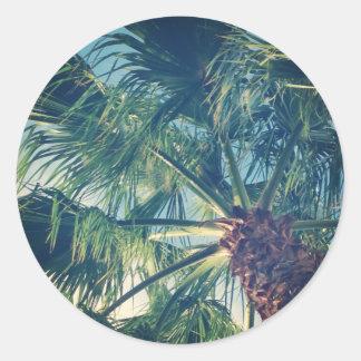 Palm Fronds Round Sticker