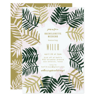 Palm Getaway Bachelorette Party Invitation