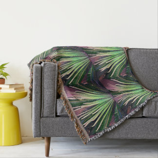 Palm Intrepid Accent Throw Blanket