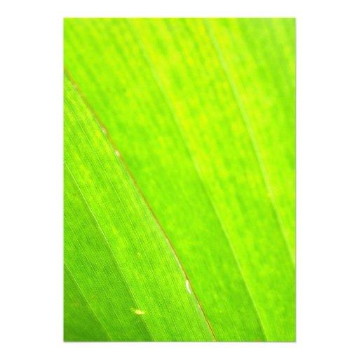 PALM LEAF 1618 LIGHT NEON GREEN NATURE VEGETATION CUSTOM INVITE