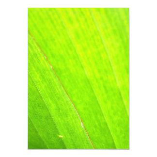 PALM LEAF 1618 LIGHT NEON GREEN NATURE VEGETATION 13 CM X 18 CM INVITATION CARD