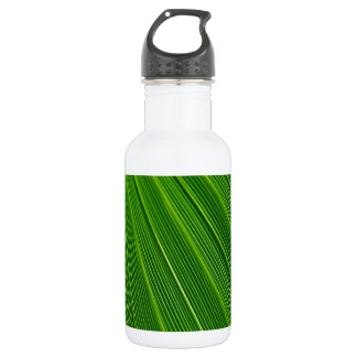 Palm Leaf Abstract Colorful Green 532 Ml Water Bottle