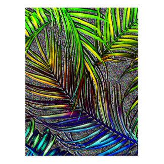 Palm Leaf Art Postcard