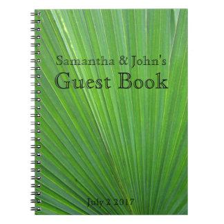 Palm Leaf Guest Book Notebooks