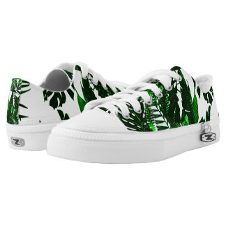 Palm Leaf Pattern  Low Top Trainers
