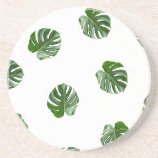 Palm Leaf Print Tropical Coaster