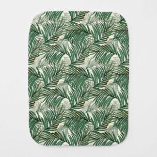 Palm leaves burp cloth