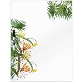 Palm Leaves Glory Lily Flowers Dry Erase Board