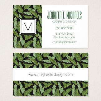 Palm Leaves | Monogram Business Card