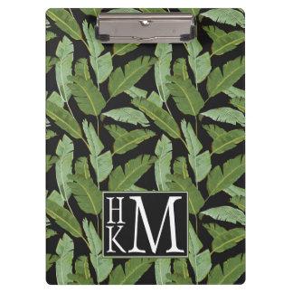 Palm Leaves   Monogram Clipboards