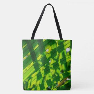 Palm Leaves Plaid, Kauai, Hawaiian Beach Bag