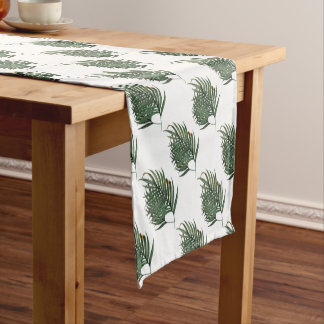 Palm leaves t-shirt short table runner