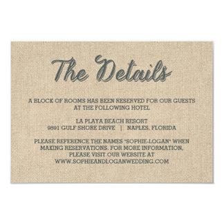 Palm Leaves Wedding Enclosure Cards 9 Cm X 13 Cm Invitation Card