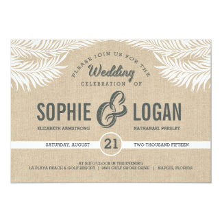 Palm Leaves Wedding Invitations