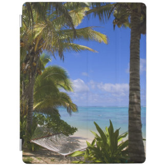 Palm lined beach Cook Islands 2 iPad Cover