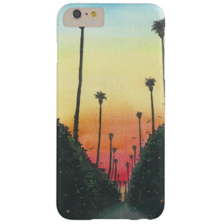 Palm Lined Street at Sundown Barely There iPhone 6 Plus Case