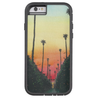 Palm Lined Street at Sundown Tough Xtreme iPhone 6 Case
