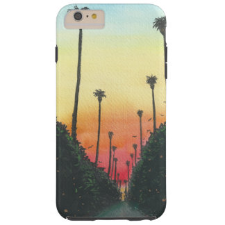 Palm Lined Street at Sundown Tough iPhone 6 Plus Case