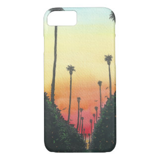 Palm Lined Street at Sundown iPhone 7 Case
