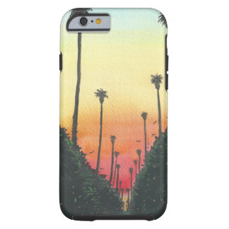 Palm Lined Street at Sundown Tough iPhone 6 Case
