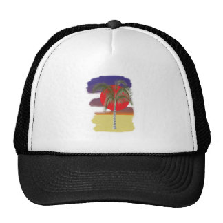 Palm palm tree mesh hat