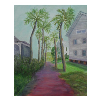 PALM ROW in St. Augustine, Florida Poster
