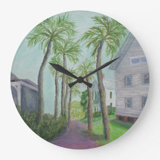 PALM ROW IN ST. AUGUSTINE, FLORIDA Wall Clock