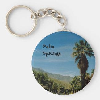 Palm Springs Basic Round Button Key Ring