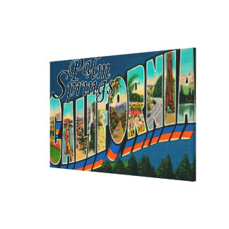 Palm Springs, California - Large Letter Scenes Canvas Print