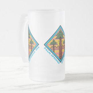 PALM SPRINGS CALIFORNIA USA original artwork Frosted Glass Beer Mug