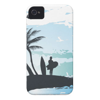 Palm summer surfer background Case-Mate iPhone 4 case