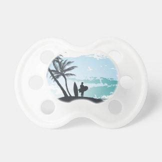 Palm summer surfer background dummy