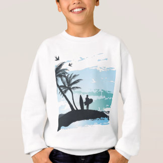 Palm summer surfer background sweatshirt