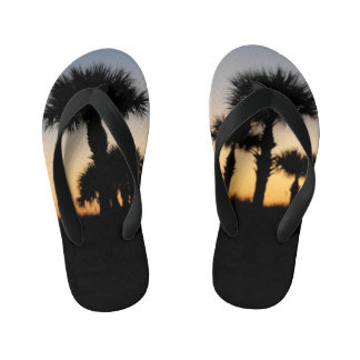 Palm Sunset Flip Flops