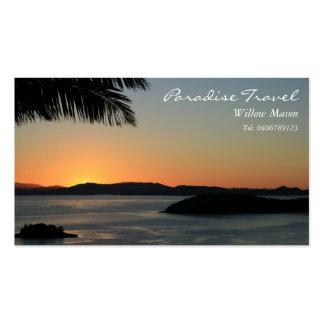 Palm Sunset, Travel Business Card