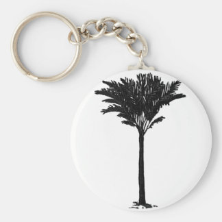 Palm Tree 2 Black The MUSEUM Zazzle Gifts Keychains
