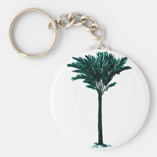 Palm Tree 2 Cyan The MUSEUM Zazzle Gifts Keychain